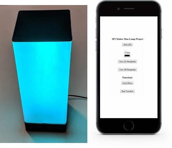 Web Server Lamp (ESPP 8266) – MN Maker Man